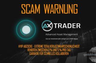 AX Trader HYIP Abzocke