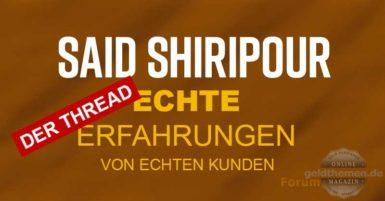 Forum Said Shiripour Erfahrungen