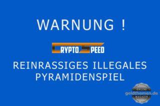 Crypto-Speed Betrug Pyramidenspiel