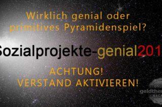 genial2015 - Pyramidensystem oder Sozialprojekt