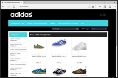 Pliz-Buch Adidas Fake Shop