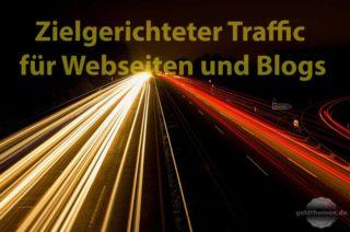 Zielgerichteten Traffic für die Webseite
